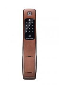 Yale耶鲁智能锁 红古铜色家用防盗门锁 全自动指纹锁