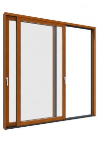 铝合金窗-72铝木断桥外平开窗-今天门窗