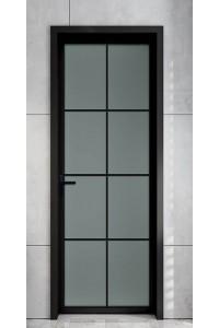 P42窄边铝合金平开门 卫生间铝合金门 室内门